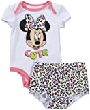 Disney Baby Girls' Minnie Diaper Cover (Baby) - White - 3-6 Months