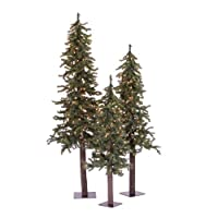 Vickerman 4' 5' 6' Natural Triple Alpine Set 450MU A805185