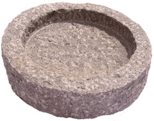 NVA Creative Garden Granite 3012335 Round Bird Bath, Red