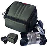 First2savvv green luxury quality heavy duty digital camera carrying case bag for olympus SP-820UZ SP-720UZ SZ-30MR SZ-10 SZ-11 + card reader