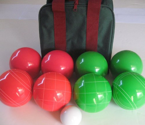 Premium Quality EPCO Tournament Bocce Set, Light red and green Bocce Balls – … günstig kaufen