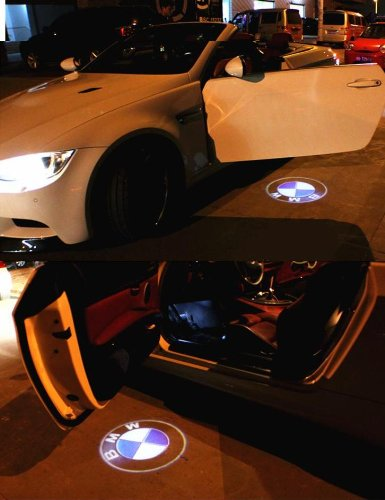 Wireless No Drill Type Cree Led Laser Door Shadow Light Welcome Projector Light Led Car Door Logo Bmw Ghost Shadow 2Pc Pack