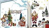 (pkpohs) ハッピー クリスマス ウォールステッカー [2枚セット] 飾り付け パーティー デコレーション ディスプレイ 壁紙 (C)雪だるま/ツリー)