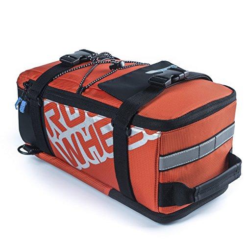 Roswheel Outdoor multifunzionale sella Pannier posteriore del sacchetto del tronco della bicicletta posteriore Rack Bag Arancione