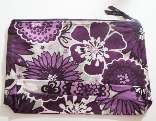 Thirty One Bags Zipper Pouch In Plum Awesome Blossom front-194927