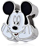 Disney Stainless Steel Mickey Enamel Bead Charm