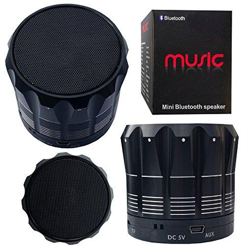 Halfdirect Original Wireless Hd S12 Mini Universal Bluetooth Speaker With Mic / Speaker Phone For All Samsung Galaxy, Apple Iphone, Ipad, Htc One, Zte, Moto, Nokia Phone Models. (Black)