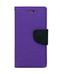 Imported Mercury Fancy Wallet Dairy Flip Case Cover for Apple iPhone 4G - Purple
