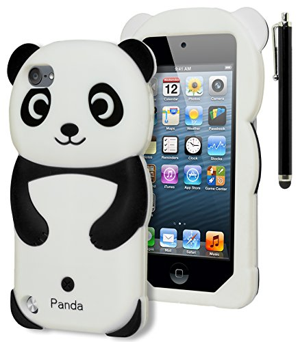 iPod Touch 5 Case, Bastex 3D Black and White Panda Bear Silicone Case for Apple iPod Touch 5, 5th Generation**INCLUDES STYLUS** (Panda Bear Phone Case compare prices)