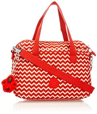 Kipling Women's Emoli Top-Handle Bag K15321A90 Chevron Red PR
