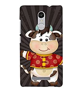 Cow waving hand 3D Hard Polycarbonate Designer Back Case Cover for Xiaomi Redmi Note 3 :: Xiaomi Redmi Note 3 (3rd Gen)