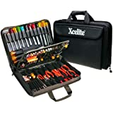 "Xcelite TCS100ST Soft-Sided Rugged Cordura Tool Case with Tools, 17"" Length, 12"" Width, 3-1/4"" Height"