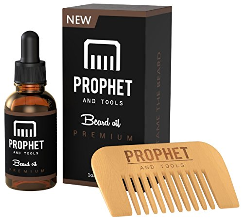 must have prophet and tools beard oil and beard comb kit unscented all in one leave in. Black Bedroom Furniture Sets. Home Design Ideas