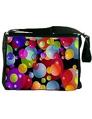 Snoogg Colorful Bubbles 2606 Laptop Messenger Bag