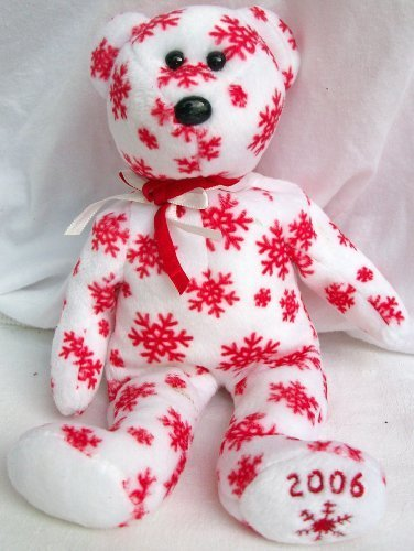 TY Beanie Baby - SNOWBELLES the Bear (Red Version) (Hallmark Gold Crown Excl)