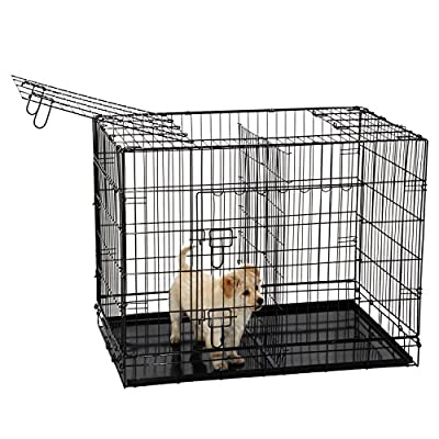 Ollieroo® Dogs Crate Folding Dog Kennel Wire Pet Cage Crate, Multiple Size