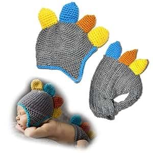 Gourmet Crochet Amigurumi Dinosaurs : Amazon.com : Baby Boy Girl Crochet Dinosaur with Yellow ...
