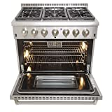 KUCHT-KRD366F-Pro-Style-36-Dual-Fuel-52-cuft-Range-in-Stainless-Steel-with-Convection-Oven