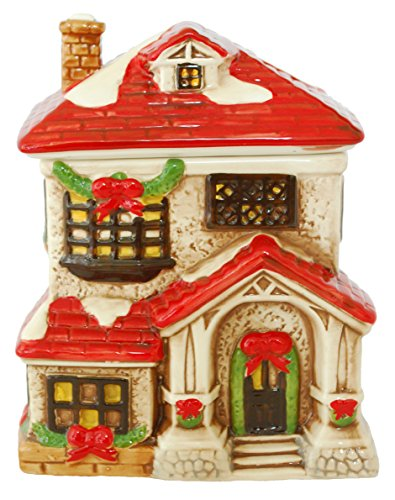 Ceramic Dol Victorian House Cookie Jar Holiday Decorations