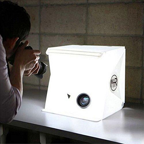 メルカリにも使えるAmazonで1,300円で購入できるLEDライト付きの撮影ボックス
