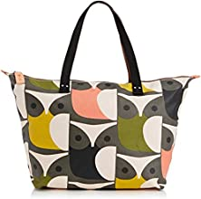 Orla Kiely Big Owl Print Zip Shopper, Sacs portés main Femme - Multicolore (multi), Taille Unique