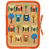 NeoSkin Kindle Zip Sleeve, Owls (Fits Kindle and Kindle Paperwhite, Neoprene Kindle Cover, Kindle Case) ~ Peter Pauper Press