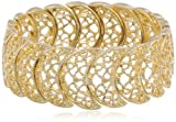 "1928 Jewelry ""Vintage Lace"" Half-Circle Filigree Stretch Bracelet, 7"""