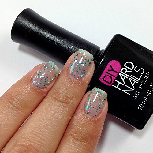 Blue Cocktail Glitter Gel Nail Polish Topper - Can Use With Your Cnd, Opi, Ibd, Gelish Gel Nail Polish Set - Bonus: Free Downloadable Gel Nail Salon Ebook With Every Purchase - 30 Day Money Back Guarantee!