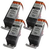 4 Large Black CiberDirect Compatible Ink Cartridges for use with Canon Pixma iP4600 Printers. Replaces PGI-520 BK.