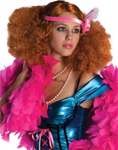 Adult Red Burlesque Doll Showgirl Flapper Disco Wig