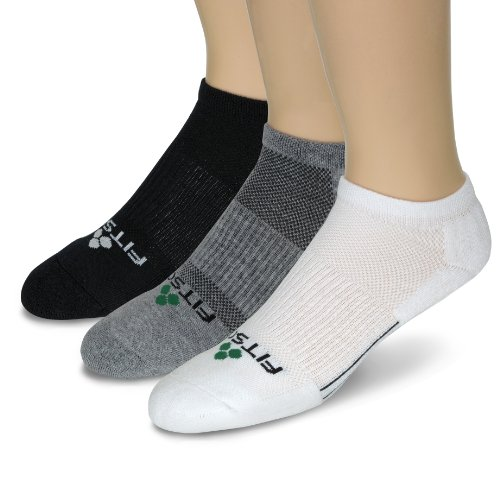Fitsok Fitsok CF2 Cushion Low Cut Sock, 3-Pack (Tri-Color, Medium)