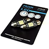 ベンツ Eクラス W211 ナンバー灯 ライセンスライト Prism LED ブラックシリーズ T10×37mm対応 6SMD 3020チップ キャンセラー内蔵 ヒートシンク搭載 210ルーメン 6500K 1set