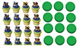 24 Teenage Mutant Ninja Turtles Cupcake Decoration Rings