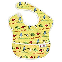 Bumkins Waterproof SuperBib, Seuss Yellow Fish (6-24 Months)
