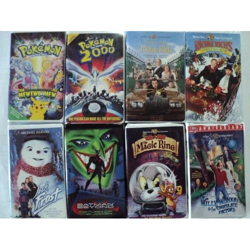 Kids and Children 8 Pack VHS Movies, Pokemon, the First Move Mew Two