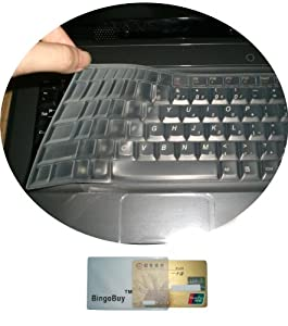 "BingoBuy Silicone Keyboard Protector Skin Cover for HP Pavilion m6-1225dx m6-1205dx m6-1045dx m6-1035dx m6-1125dx m6-1105dx (if your ""enter"" key looks like ""7"", our skin can't fit)"