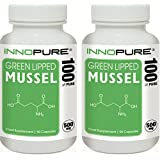 Green Lipped Mussel Duo Saver Pack | 100% Pure, No Fillers or Binders, High Grade | 500mg x 180 Capsules | Innopure®