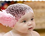 Bluesky Flower Toddlers Infant Baby Girl Princess Headband Hair Band Headwear Accessories Crochet Pink