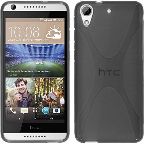 PhoneNatic HTC Desire 626 Hülle Silikon grau X-Style Case Desire 626 Tasche Case
