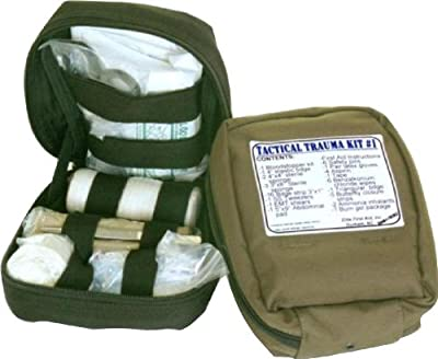 Fully Stocked MOLLE Tactical Trauma Kits First Aid Pouch