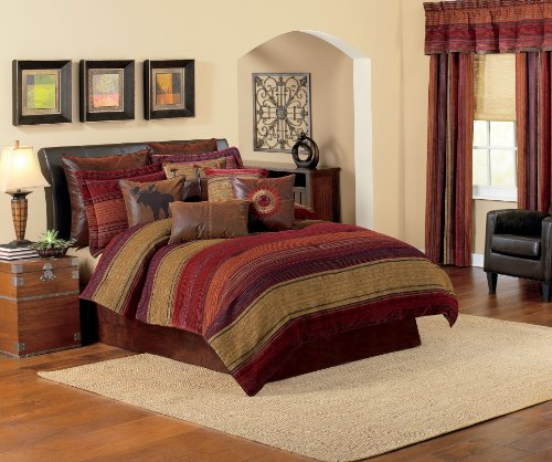 Croscill Plateau Comforter Set, Queen, Multi front-1045330