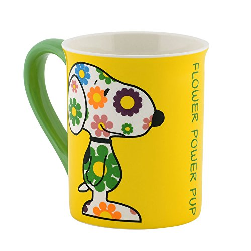 Department 56 Peanuts Mug, 4.5-Inch, Flower Power front-14298