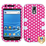 MyBat SAMT989HPCTUFFIM009NP Rugged Hybrid TUFF Case for T-Mobile Samsung Galaxy S2 - Retail Packaging - Dots - Pink/White