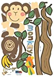 Monkey Hanging Over Tree Kids/Nursery Peel&Stick Wall Art Sticker Decal Picture