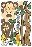 Monkey Hanging Over Trees Nursery/Kids' Room Wall Art Sticker Decal