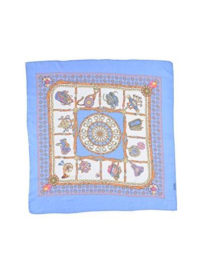 Piunobile Foulard Cotton Twill Weave 100X100 Kalas Blu