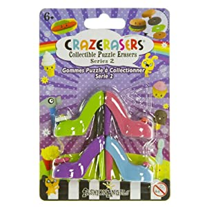 High Heels (4 Mini-Erasers) - CrazErasers: Collectible Erasers Series 2