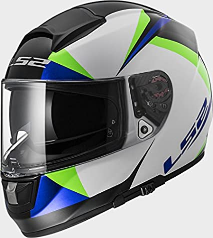 LS2 FF397 Vector FT2 Labyrinth White Green Motorcycle Helmet