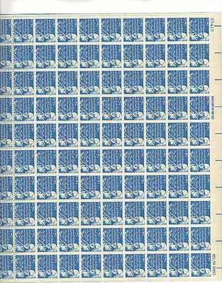 Benjamin Franklin Sheet of 100 x 7 Cent US Postage Stamps NEW Scot 1393dv