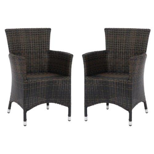 2 Stück Sessel Eden, Geflecht espresso online kaufen